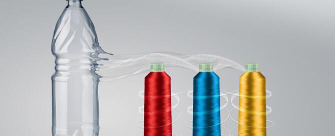 Petflaskor blir brodyrtråd